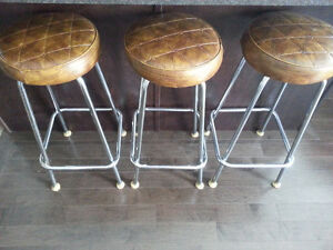 3 bar chairs, good condition, total $25.00