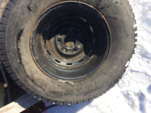 new unused 245/75 R16 tire and rim off chevy truck goodyear