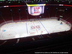2 ou 4 billets collés Canadiens Montreal 303 row A ou 308 CC