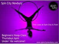 BEGINNERS AERIAL HOOP CLASS - THURSDAYS 6PM NEWBURY