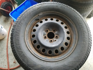 Used 04 Winter Tires with Rims Size: 245 65R17.