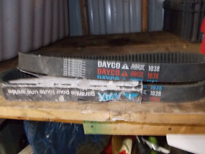 2 New Old Stock 1038 Dayco Max snowmobile drive belts