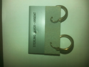 Real silver earrings never worn