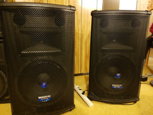 Powered Mackie Speakers