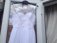 Summery wedding dress size 10 £30