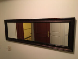 Mirror Miroir with stand or hanging. 5 ft. Excellent condition.