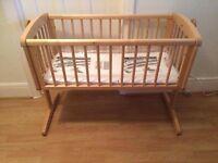 Baby swinging crib mothercare