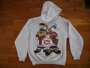 Taz and Bugs Habs Hoodie Women's Medium