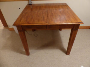 Dining table & chairs - solid wood