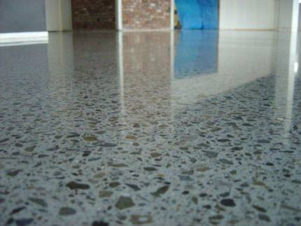 Concrete grinding, glue removal, tile removal, polish and seal