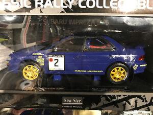 1/18 diecast sunstar Subaru wrx wrc rally''93 thousand lakes new