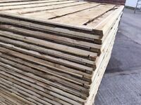 🔨🌟Top Quality Heavy Duty Waneylap Tanalised Fence Panels