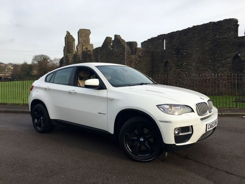 2013 62 reg bmw x6 3 0 xdrive40d 5dr 4x4 white p x welcome dynamic pack pro media fsh in. Black Bedroom Furniture Sets. Home Design Ideas