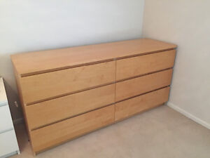 IKEA 6 drawer Malm dresser