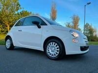 2013 Fiat 500 1.2 *** PEEPER WHITE *** LOW MILES 49000 / NEW M.O.T