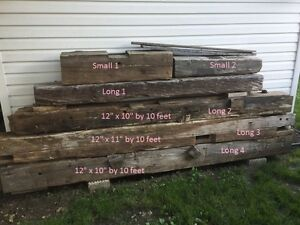 Barn beams from home built in 1859