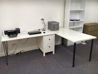 Stylish Ikea Hemnes Hairpin Legs White Corner Desks