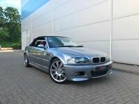 2004 04 reg BMW M3 3.2 Convertible + RED Leather + Sat NAV + Facelift Model