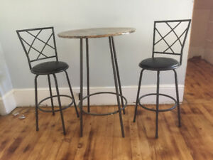 Pub Style Table and Stools