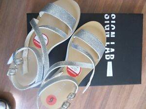 girls/ ladies silver sandals