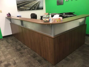 Reception Desk, Work Tables and Chairs