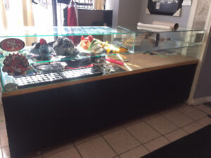 8 foot glass display counter for sale