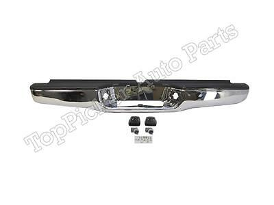 For 1995-2004 Tacoma Rear Step Bumper Chrome Face Bar With Hitch Pad Lamp Assy