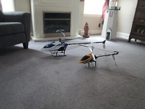 two rc helicopters 200.00 for both