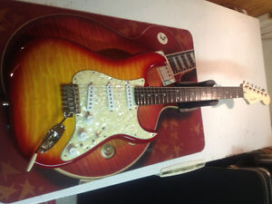 Strat electric guitar with Dimarzio Area 61 and 58 pick ups