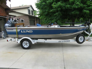 Lund 16' Aluminum BOAT ONLY for sale - $2500