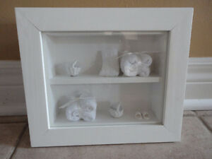 Brand new white wooden decorative bathroom theme shadow box London Ontario image 2