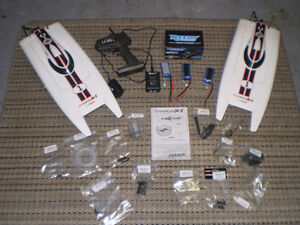 2 LITEHAWK CHARGER XL BOATS AND HARDWARE COMPONENTS
