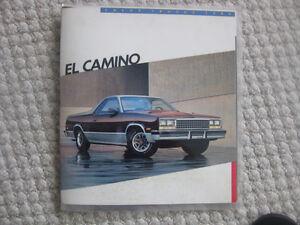 1986 Chev. El Camino brochure