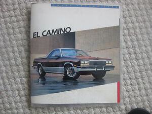 1986 Chev. El Camino brochure Kitchener / Waterloo Kitchener Area image 1