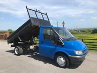 2007 07 FORD TRANSIT 90 T350 MWB 2.4 10 FT 6 STEEL TIPPING BODY 89TH MILES