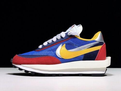 Sacai x Nike LVD Waffle Daybreak NEON! BLUE + RED