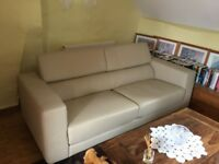 French made, Italian leather sofa, excellent condition