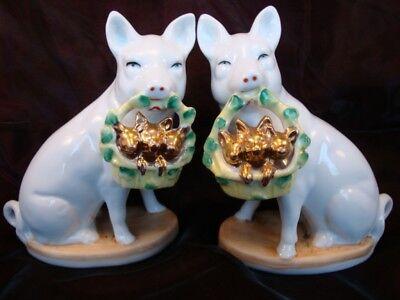 Figurine Pig Wildlife Art Deco-German Style Art Nouveau Style Porcelain Enamels