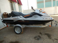 2008 SEA DOO RXT255X 3 SEATER LOW HOURS 57 PLUS TRAILER