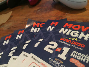 Five 2 for 1 movie tickets/coupons