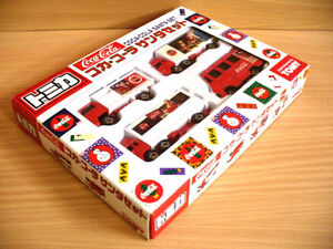 Tomy Tomica Coca Cola Santa Claus Set Vehicle Truck Collection