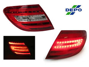 DEPO True OEM Facelift Look LED Tail Lights For 2008-2011 Mercedes W204 C Class
