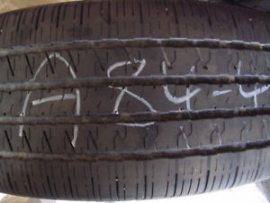 Four Hancook Optimo H725 235/55R19 Used Tires