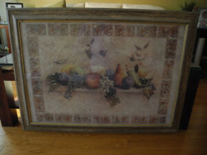 """Beautiful Large Sized Framed Fruit Picture 39"""" X 29"""" in Oakville"""
