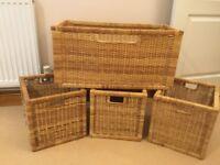 Whicker storage baskets