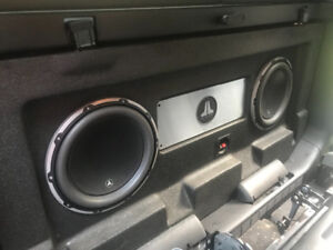 Jl audio stealth box with amp