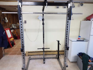 Smith machine with lat pulldown Low pully row weight tree