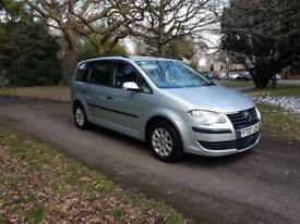 2007 Volkswagen Touran 1.6 7 Seater 2 former keepers, cruise, air-con £3195 **sale just reduced**