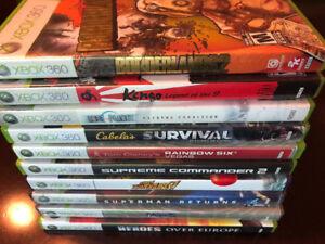 FIFTEEN XBOX 360 GAMES INCLUDING 5 SKYLANDER GAMES