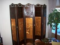 6 panel folding screen with chinese motif design